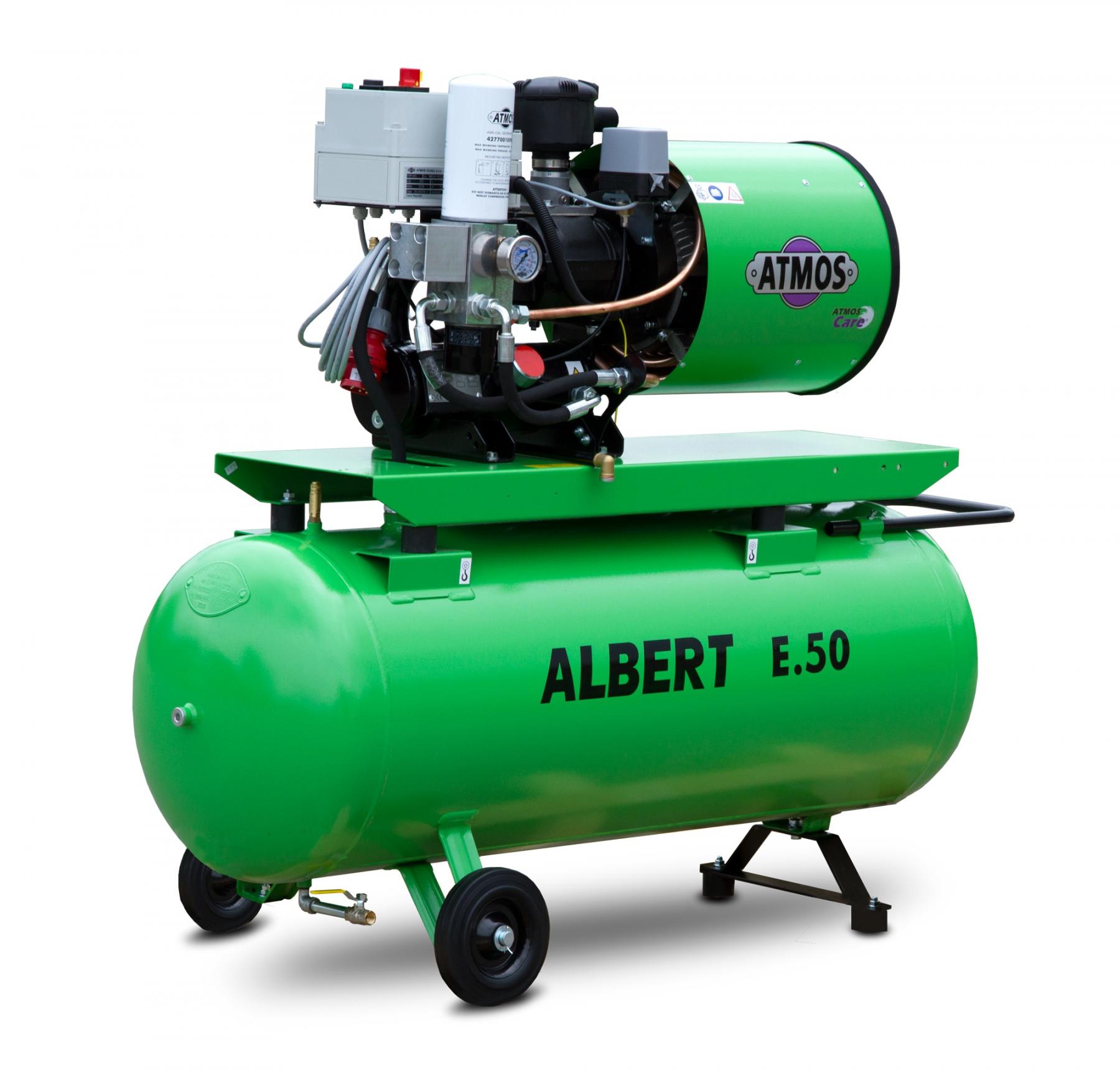 Винтовой компрессор Atmos Albert E 50 с ресивером и осушителем